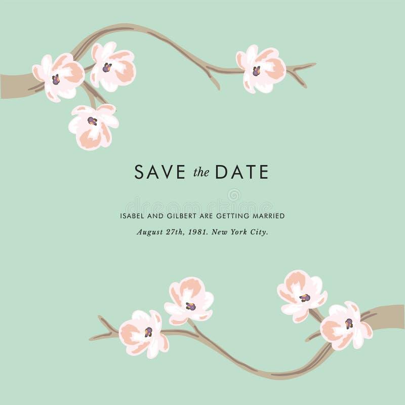 Tea tree - Save the date invitation stock photography
