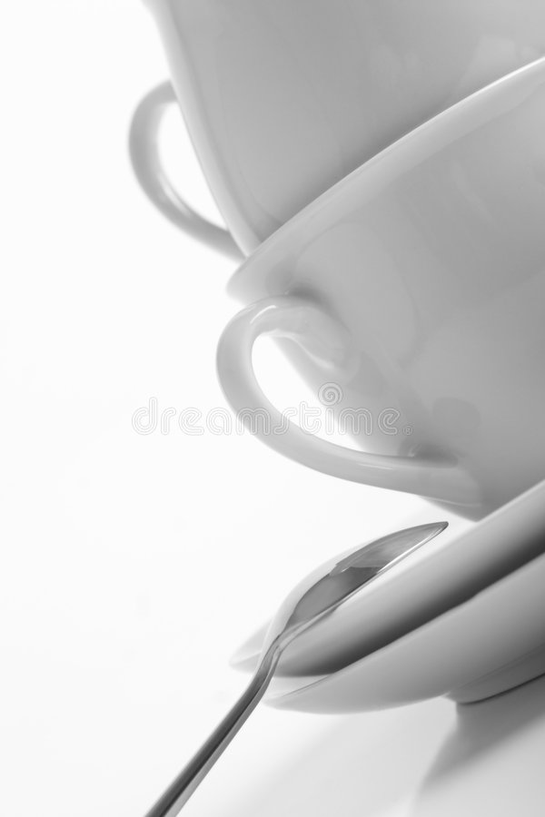 Download Tea for two stock photo. Image of spoon, utensil, white - 1643400