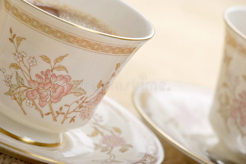Tea for two stock images