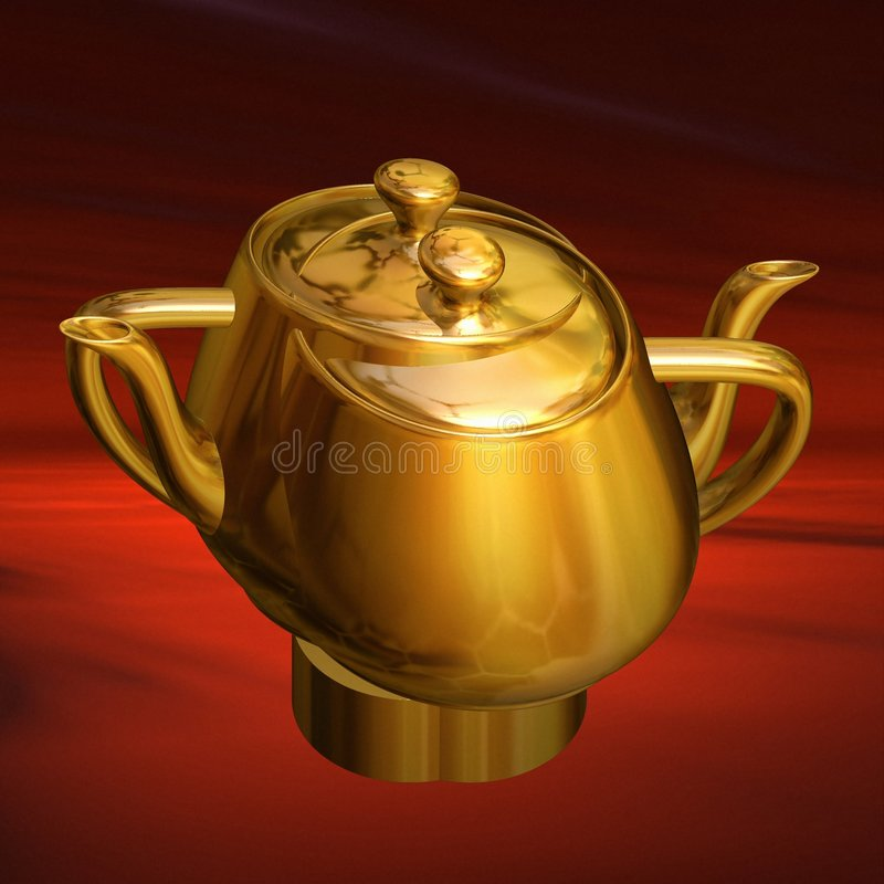 Tea for two. Floating united teapots being symbolic and reminding of the song Tea for two royalty free illustration