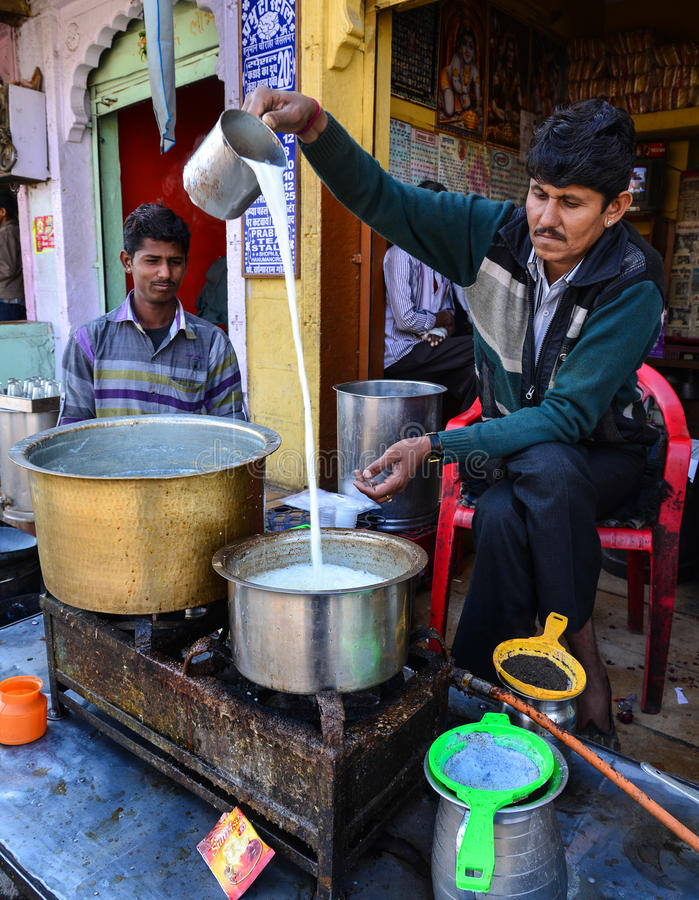 Free Tea Vendor In India Royalty Free Stock Image - 71366706