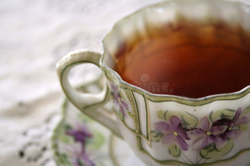 Tea violet 02 royalty free stock image