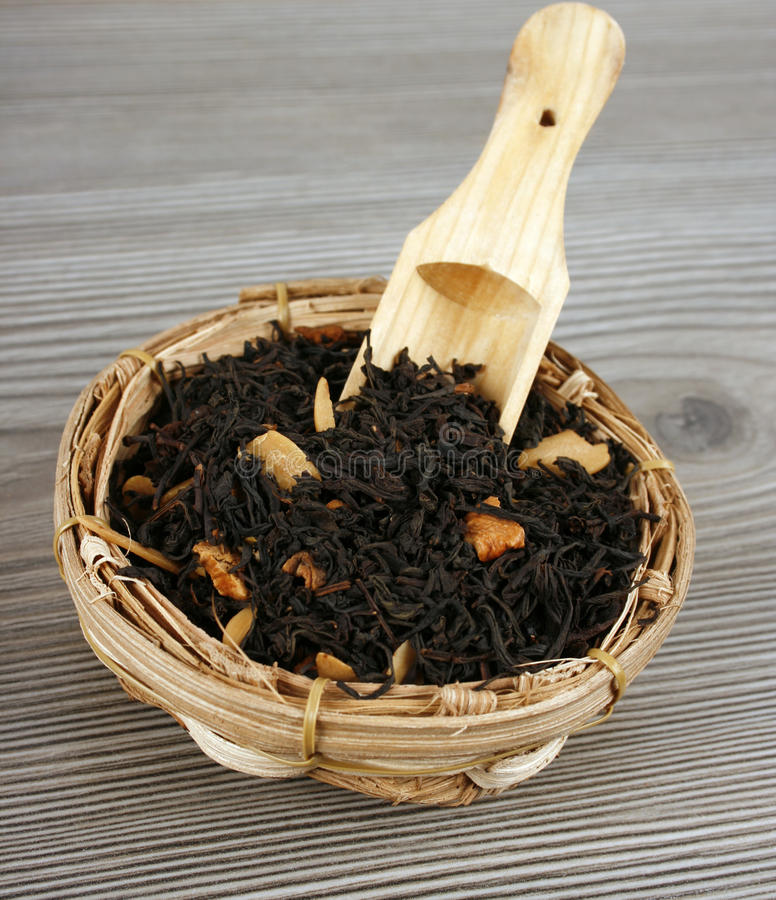 Download Tea In A Wooden Spoon Royalty Free Stock Photo - Image: 18983885