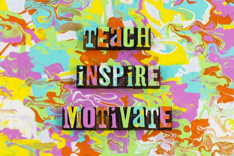 Teach inspira motiva ilustração do vetor