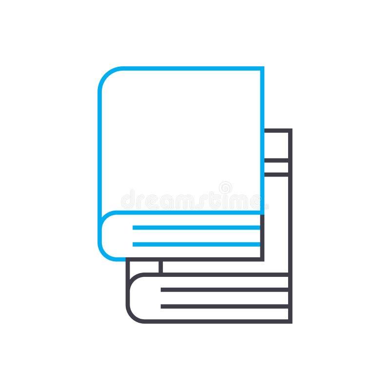 Teach yourself books vector thin line stroke icon. Teach yourself books outline illustration, linear sign, symbol stock illustration