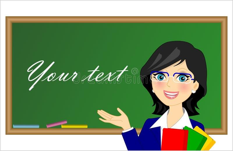 Teacher. Vector illustration of teacher in the class vector illustration