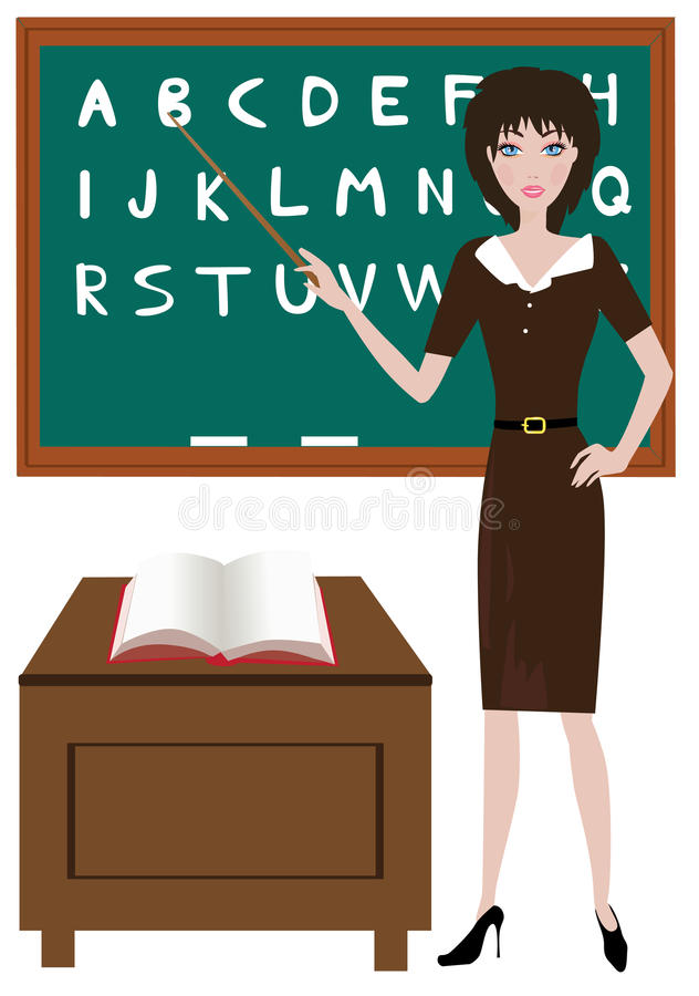 Download Teacher stock vector. Image of presenting, school, learning - 20385788