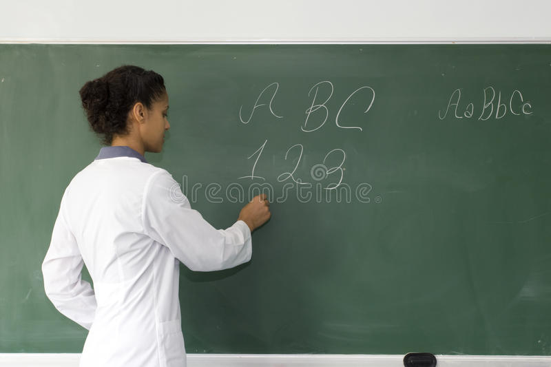 Download Teacher stock image. Image of adult, math, chalk, indoors - 20555241
