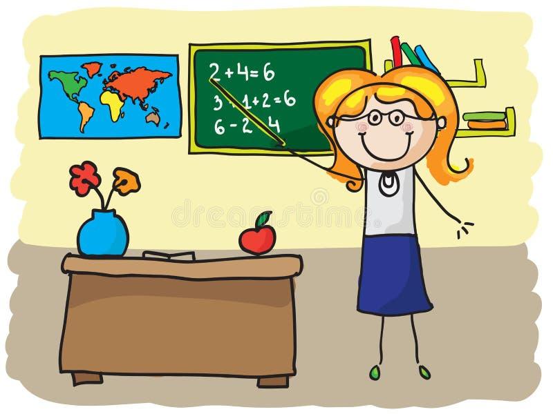 Teacher stock illustration