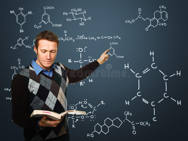 Download Teacher in action stock photo. Image of read, jumper - 17537544