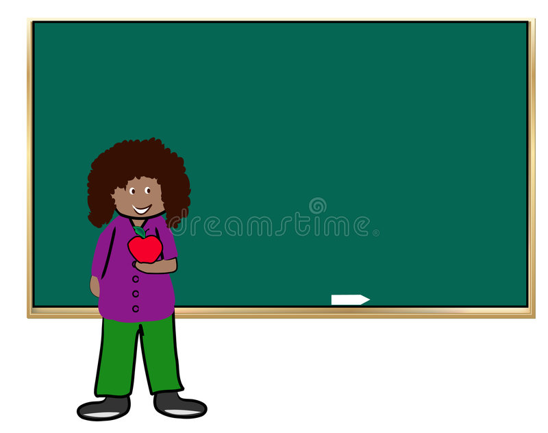 Download Teacher with apple stock vector. Image of class, chalkboard - 4420485