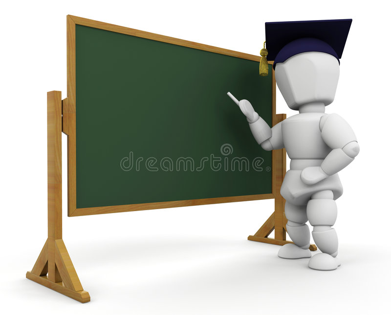 Teacher at blackboard vector illustration