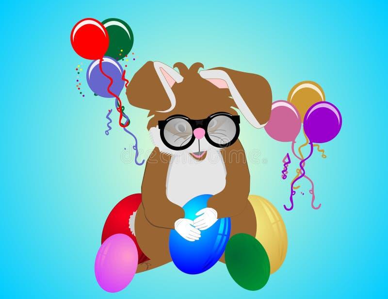 Download Teacher Bunny stock vector. Image of confetti, eggs, copyspace - 13924680