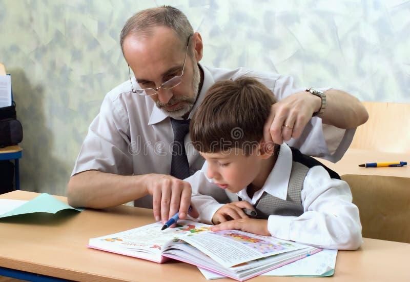 Teacher And Careless Pupil Royalty Free Stock Photo
