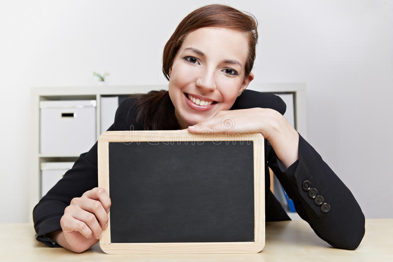 Teacher with chalkboard stock images