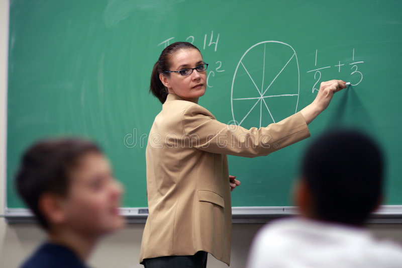 Download Teacher in the class stock image. Image of learning, building - 4831407