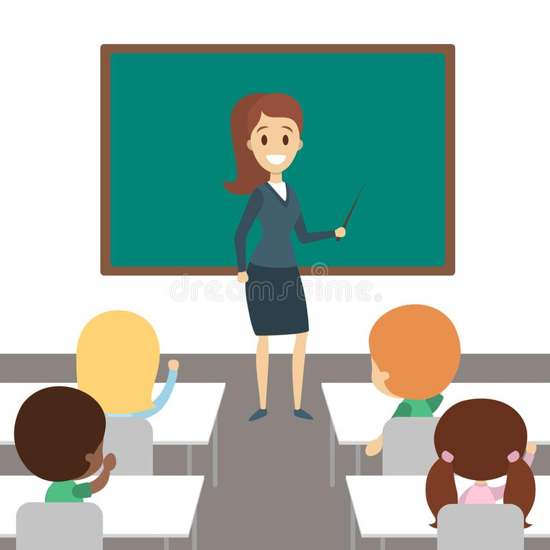 Teacher in classroom. royalty free illustration