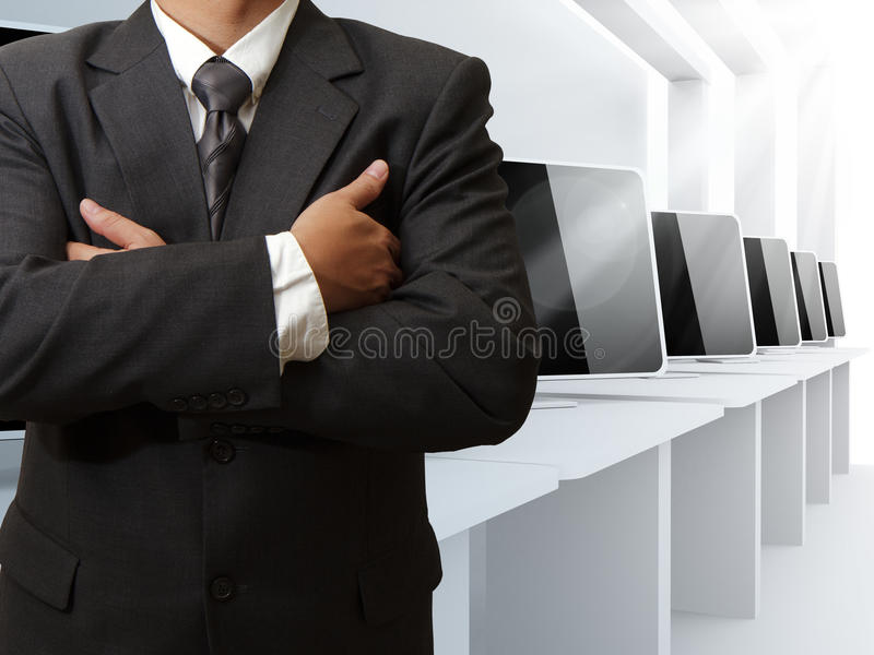 Download Teacher And Computer Class Room Stock Image - Image: 24437063