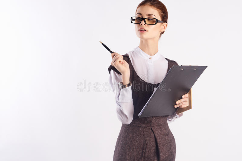 Teacher, empty space to copy royalty free stock images