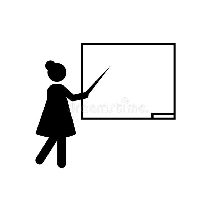 Teacher explain education icon. Element of back to school illustration icon. Signs and symbol collection icon for websites, web. Design, mobile app, UI, UX on royalty free illustration