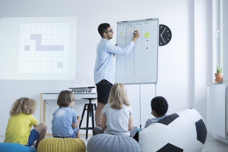 Teacher explains the problem royalty free stock photo