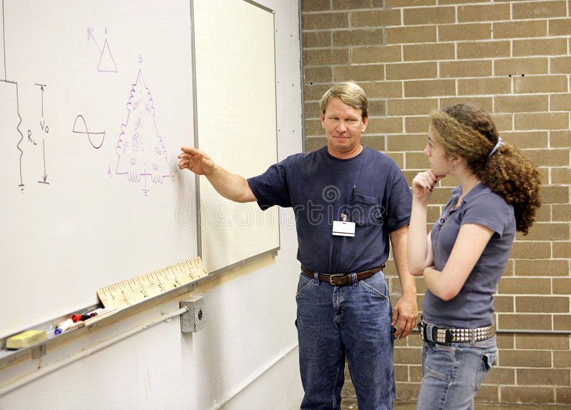 Download Teacher Explains To Student Stock Image - Image: 2914259