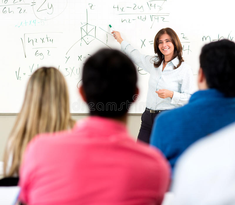 Teacher giving a lecture