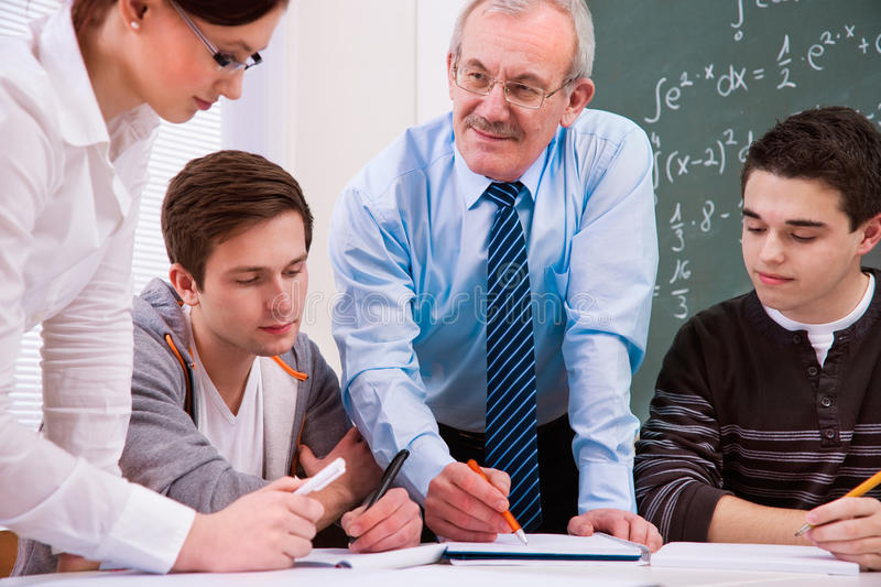 Download Teacher With High School Students Stock Image - Image of education, lesson: 23710943