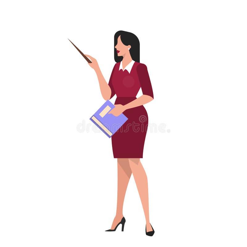 Teacher holding a pointer. Professor explaining lesson. royalty free illustration