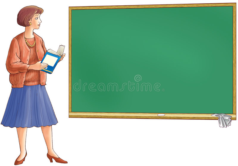 Download The teacher holds the book stock illustration. Illustration of chair - 4728578