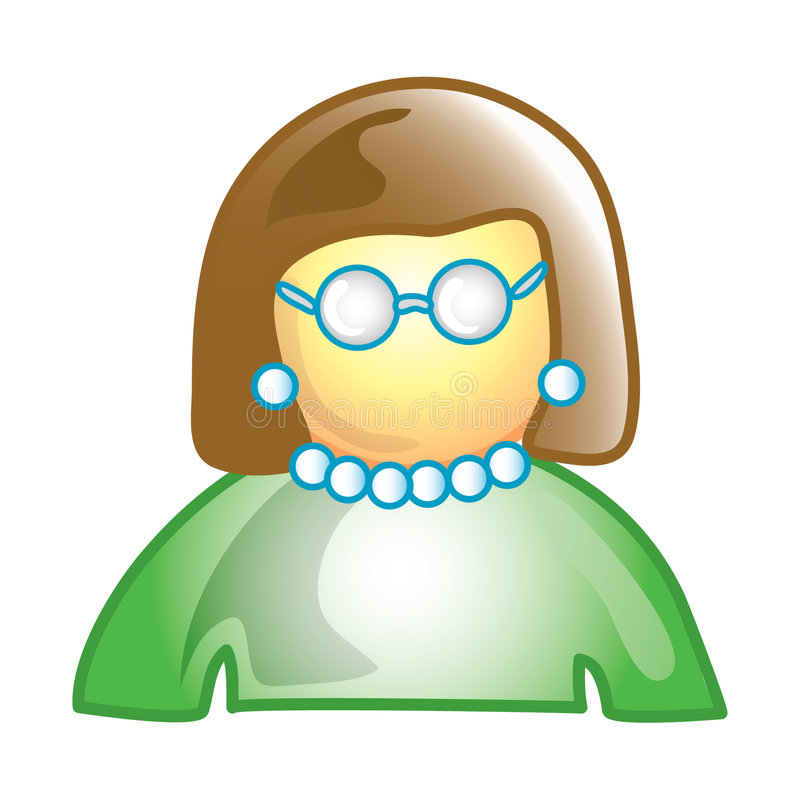 Teacher icon royalty free illustration