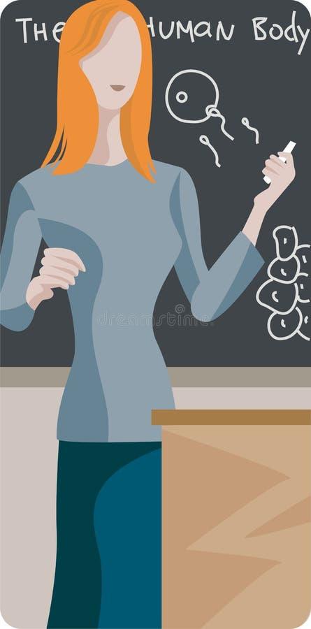 Teacher Illustration Series stock illustration