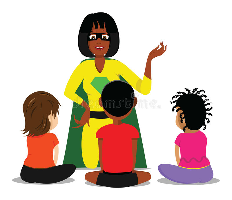 Teacher kids classroom royalty free illustration