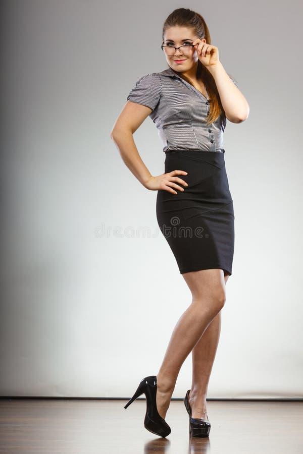 Teacher looking elegant woman stock photo