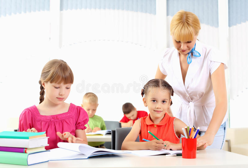 Teacher Makes The Lessons Stock Images