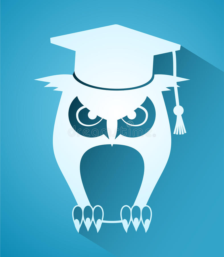 Teacher owl icon vector illustration