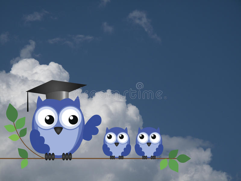 Teacher Owl And Pupils Royalty Free Stock Photography