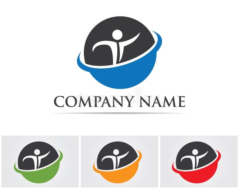 teacher people logo and symbols vector app.. stock illustration