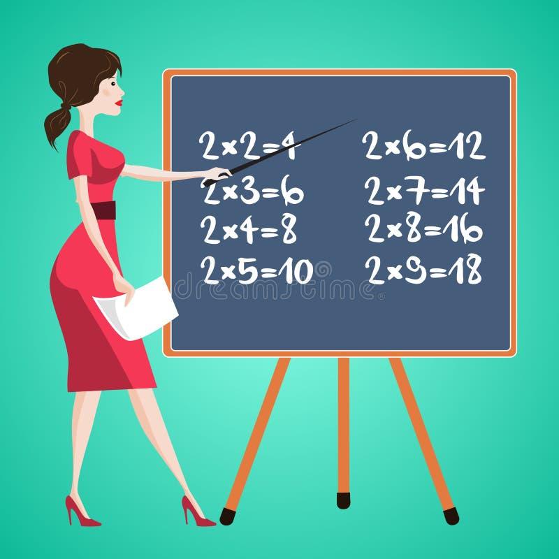 Teacher at the school board. Vector illusrtation royalty free illustration