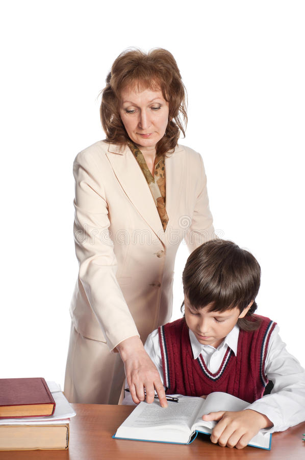 Download The Teacher And The Schoolboy Stock Image - Image: 18507433