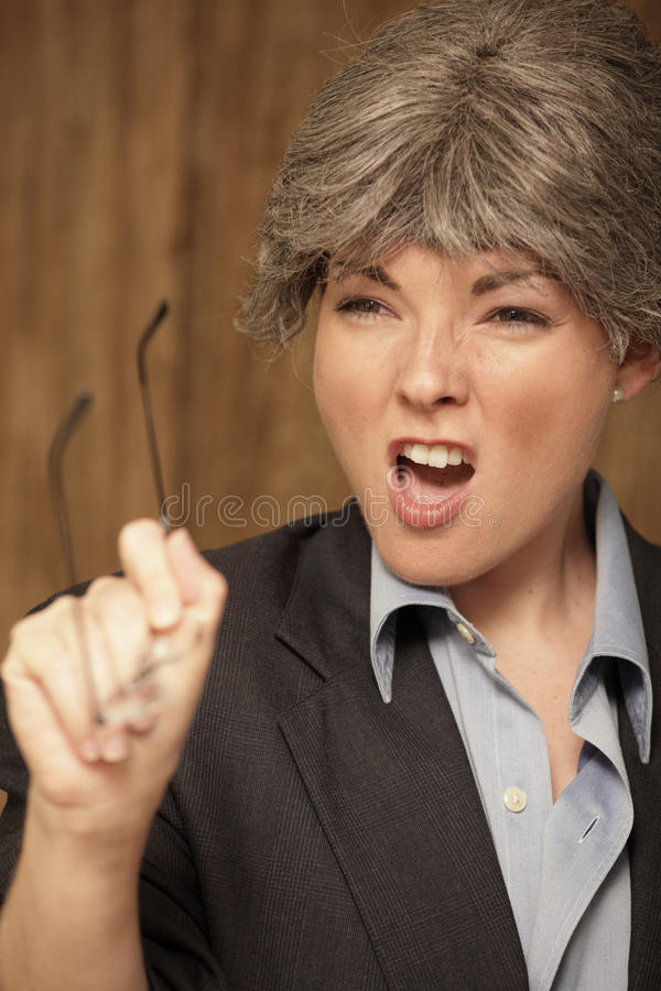 Download Teacher Shouting At Her Class Stock Image - Image: 17567887