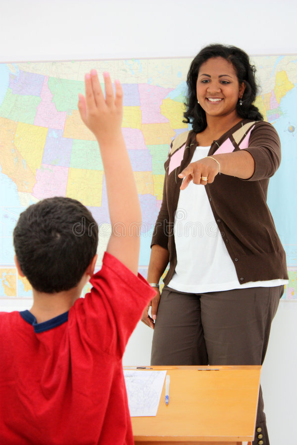 Teacher and Student royalty free stock images