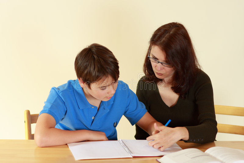 Teacher and student stock images