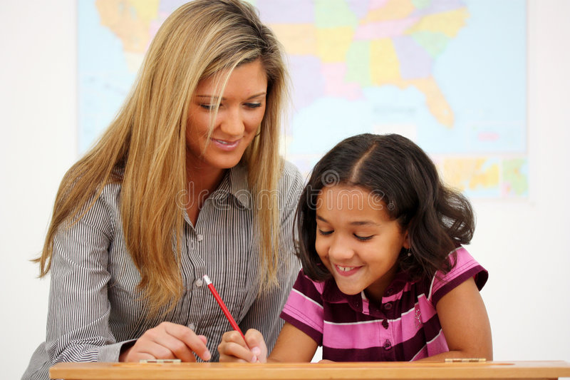 Teacher and Student royalty free stock image