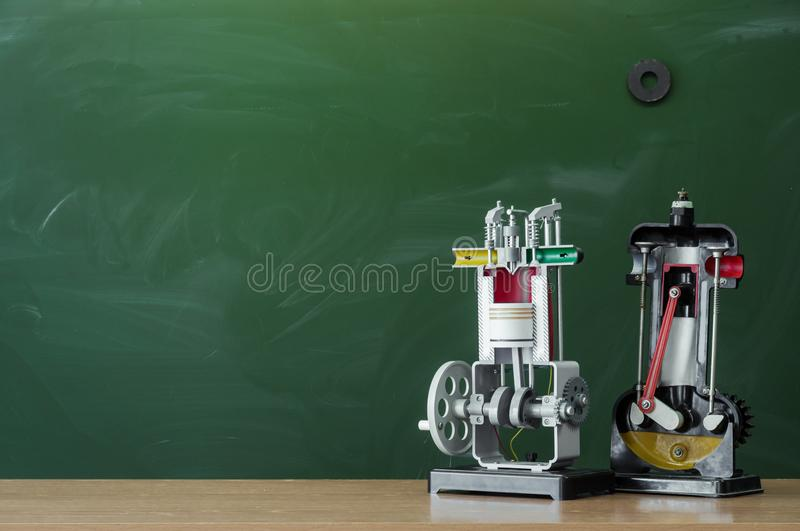 Education background. Teacher or student desk table. Education concept. Back to school. royalty free stock images
