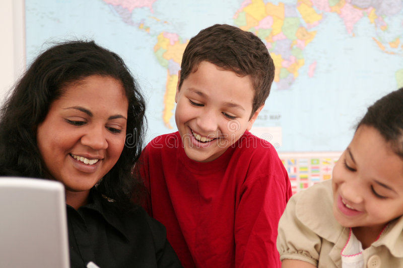 Download Teacher and Students stock image. Image of race, students - 4496917