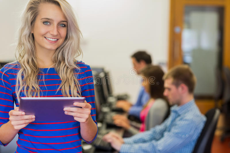 Download Teacher With Students Using Computers In Computer Room Stock Image - Image: 35788895