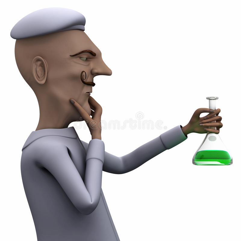 Download Teacher Thinking About Liquid In Test Tube Stock Images - Image: 20863744