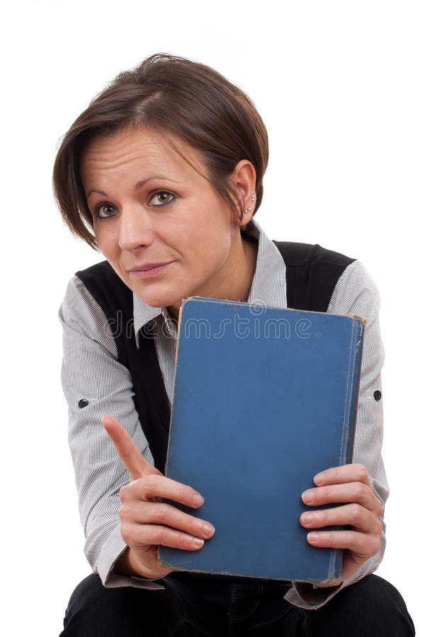 Teacher whit the book royalty free stock photos