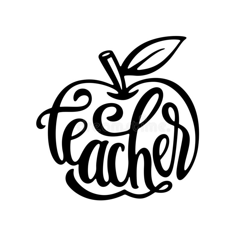 Apple Teacher Character With Pointer Stock Vector Illustration Of Sketch Pointing 41585920